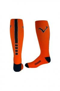 Elite Knee-high Socks - orange and black