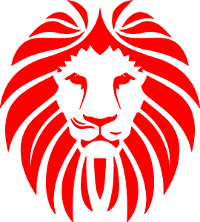 Red lion head sock logo